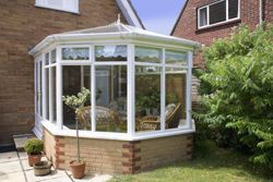 Conservatory attached to rear of house